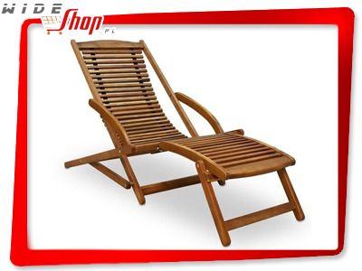 Drewniany Lezak Ogrodowy Ergo Z Drewna Akacjowego 5175448940 Oficjalne Archiwum Allegro Outdoor Chairs Outdoor Furniture Outdoor Decor