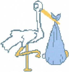 stork crochet graph afghan patterns