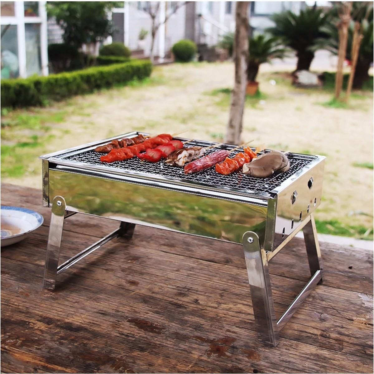 Fancy BBQ Barbeque Portable Simple and Easy Grill Without Charcoal