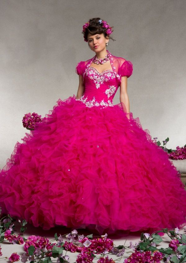 88076 Ruffled Tulle with Embroidery and Beading | special occasion ...
