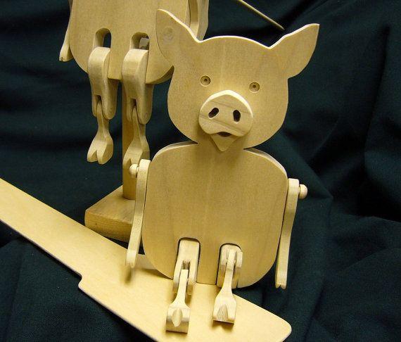 Limberjack-Wooden Dancing Pig.