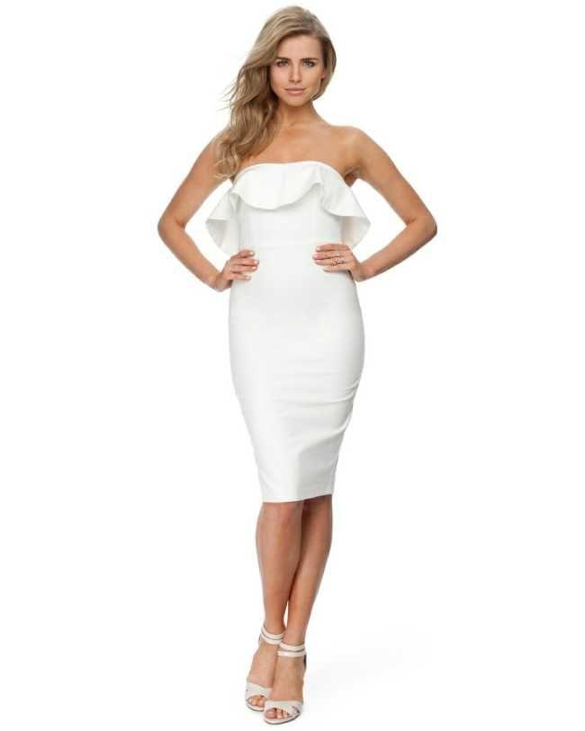 White Ruffle Midi Dress - Womens Fashion - $120.00 Australia Qld ...