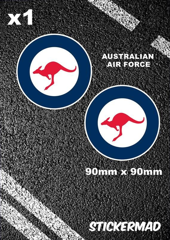 Australian Air Force Roundels 90mm Stickers F35A