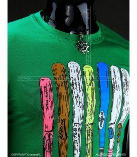 0891a2d923c2 Zelené pánske tričko so športovou potlačou