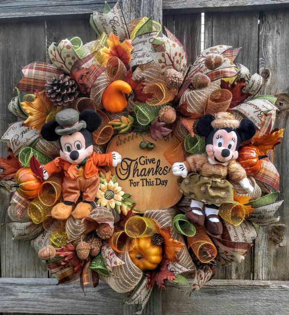 Check out this item in my Etsy shop https://www.etsy.com/listing/482603181/thanksgiving-wreath-mickey-mouse