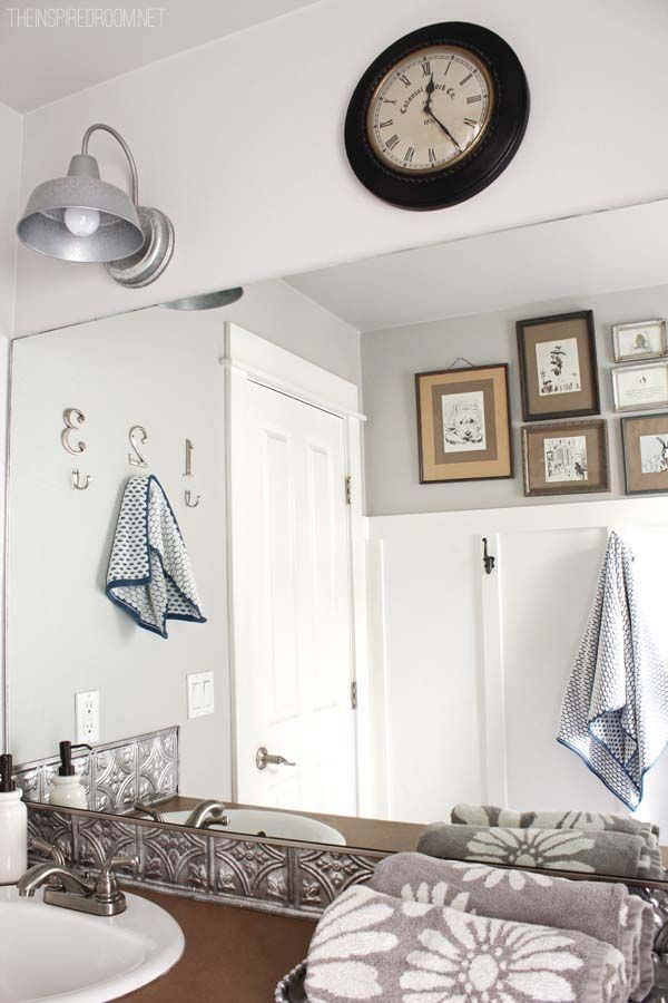Bathroom makeover diy weekend refresh bathroom - Diy bathroom remodel before and after ...