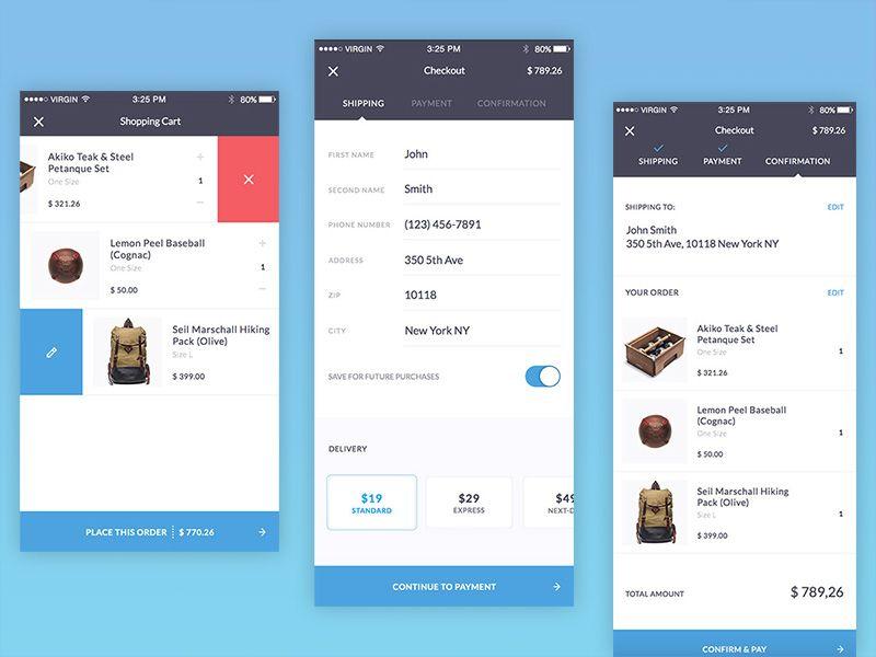 Mobile Checkout Process Iphone App Design Mobile App Design Mobile Web Design