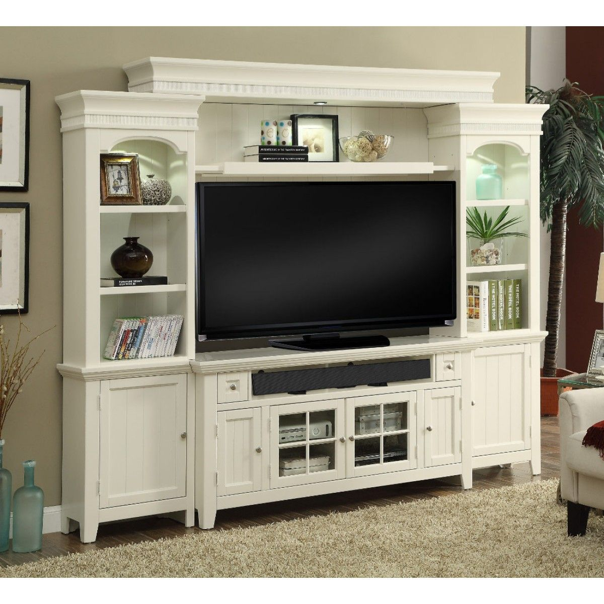 """Parker House Tidewater 62"""" Console Entertainment Wall In"""