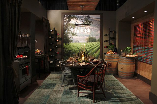 dining room with wine cellar - Google Search New Lotsa Rooms Ideas