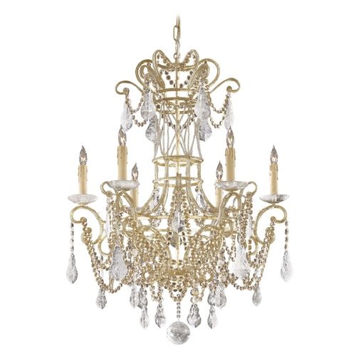Metropolitan 6 light 1 tier candle style crystal chandelier from the cry ivory indoor lighting chandeliers find this pin and more on art deco