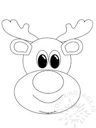 Resultado De Imagen De Rudolph Head Template Rudolph Coloring Pages Christmas Cake Designs Christmas Coloring Pages