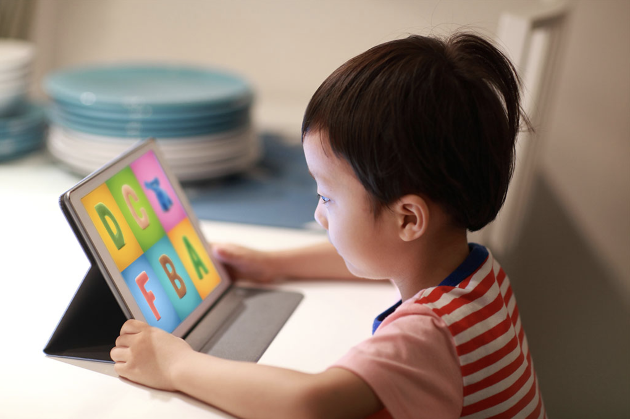 Put a tech twist on alphabet learning for your little one