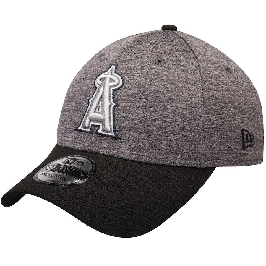 new product ce4b1 2c4f7 Men s Los Angeles Angels New Era Heathered Gray Black 39THIRTY Shadow Tech  Color Pop Flex Hat, Your Price   29.99
