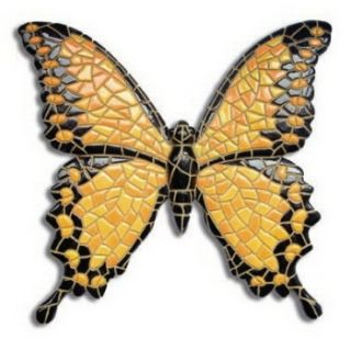 Yellow Butterfly Mosaic -- Barcino Designs,  Schmetterling yellow magnet