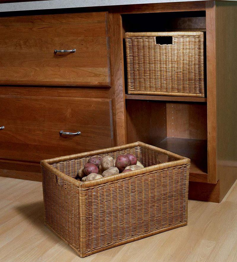 Storage Solutions Details Base Open Wicker Basket Cabinet From Kraftmaid Storage Solutions