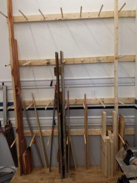 Vertical Lumber Storage Rack