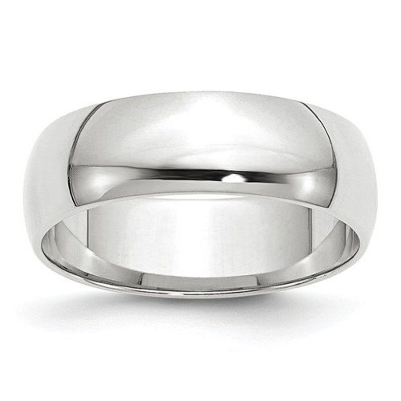 10k Solid White Gold 6mm Men S And Women S Wedding Etsy In 2020 Comfort Fit Band White Gold Comfort Fit Wedding Band