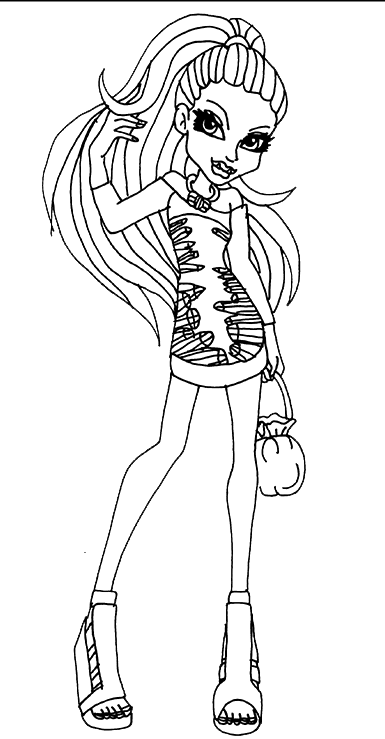 Monster High Beauty Coloring Pages