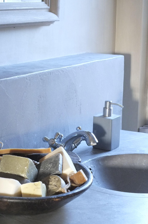 Styling & Living badkamer Beton Cire en kalkverf - badkamer ...