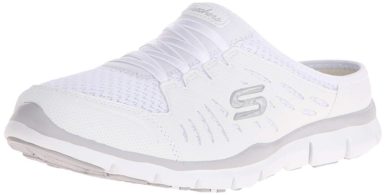 Skechers Sport Women S No Limits Slip On Mule Sneaker Black