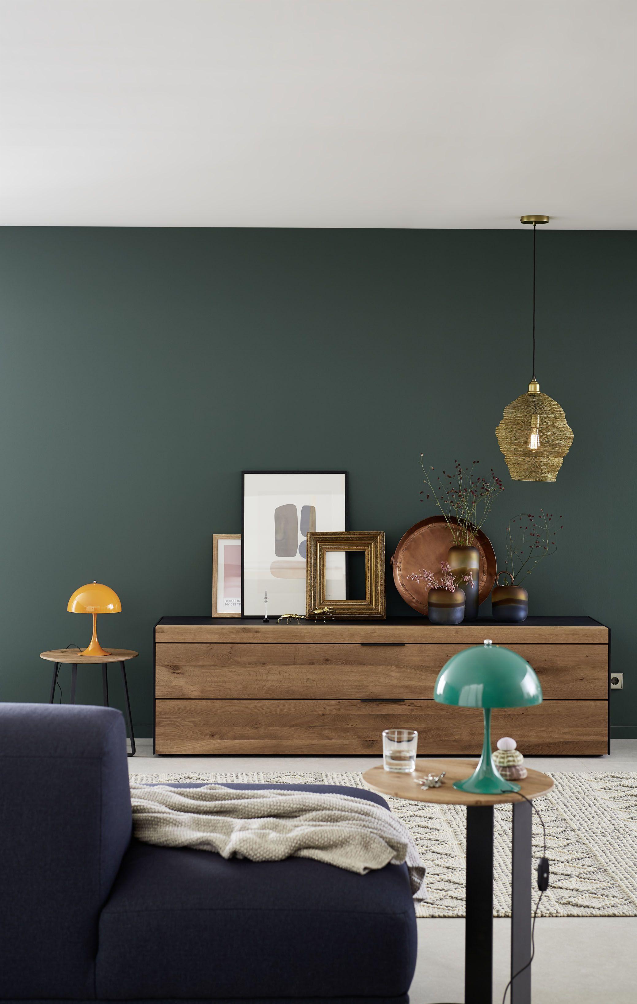 SchÖner Wohnen Kollektion Designfarbe Besinnliches WaldgrÜn Schöner Wohnen Wohnzimmer Wohnzimmer Farbe Wohnzimmerfarbe