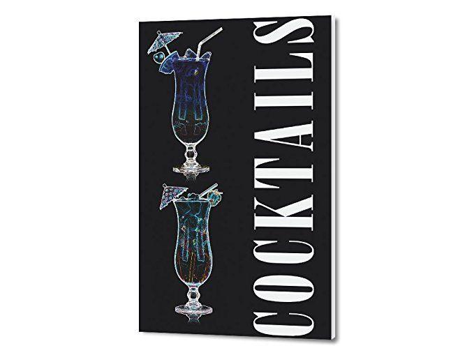 Graz Design Wandbild mit Spruch Cocktails mit Gläser Wand