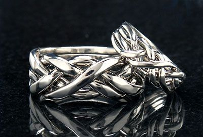 Cambridge Puzzle Ring Wedding Bands A Three Stranded Cord Is Not