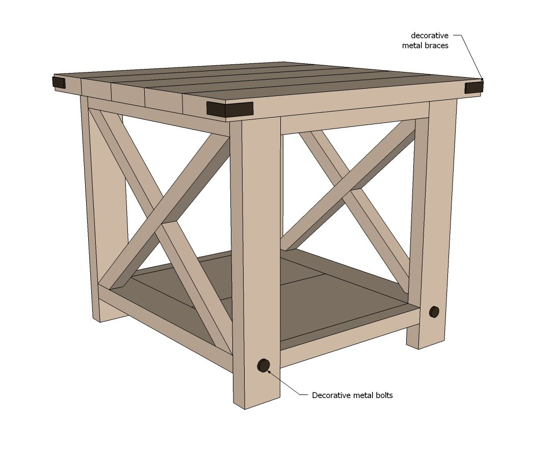 Diy End Tables Plans Ana White How To Build For The Home Pinterest Ana