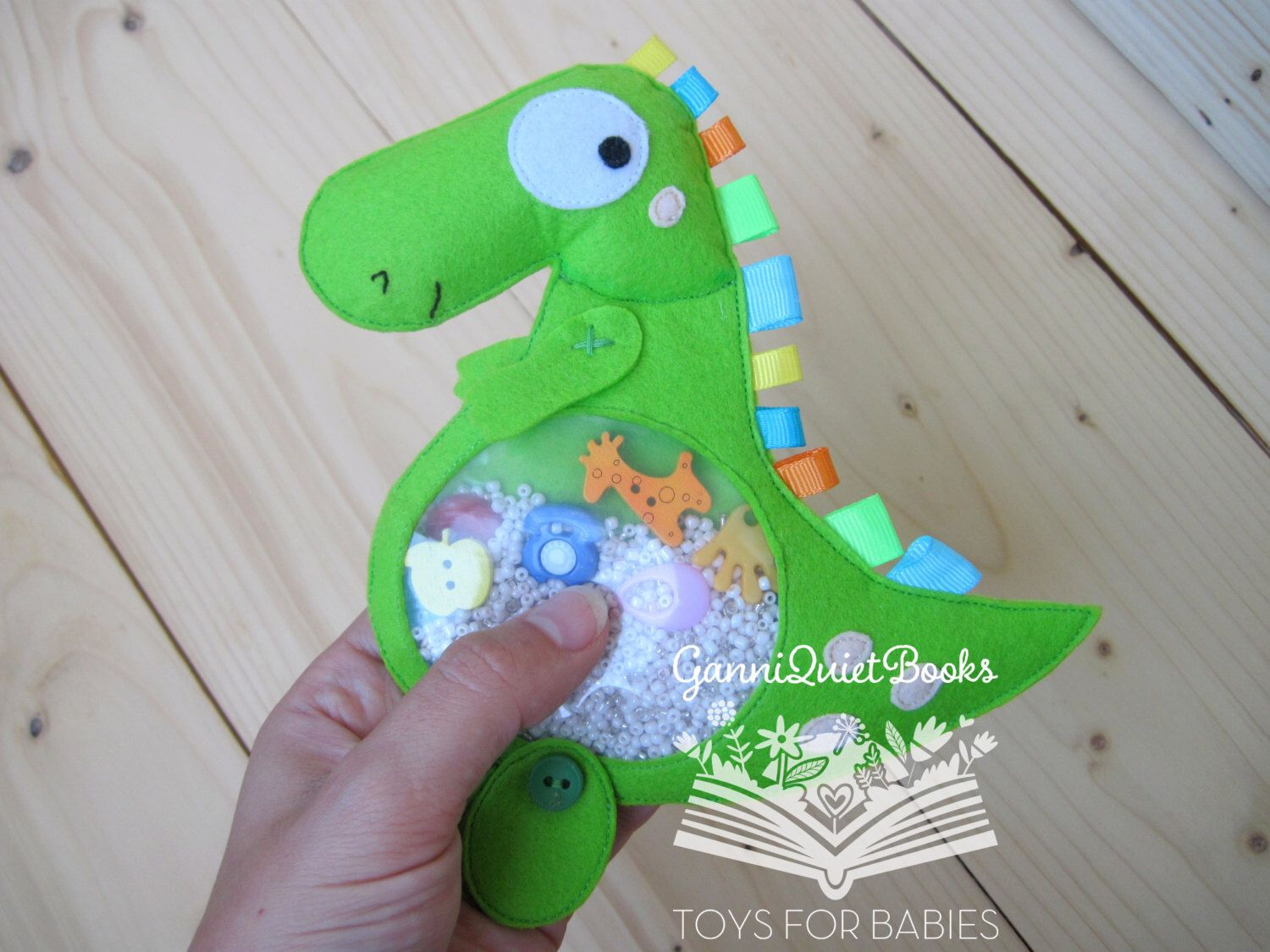 Dinosaur I Spy Bag, I Spy Game, Seek and Find, Quiet Sensory Toy ...
