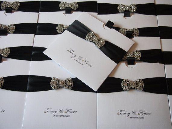 Luxury Handmade wedding invitation The by CrystalCoutureinvite - formal handmade invitation cards