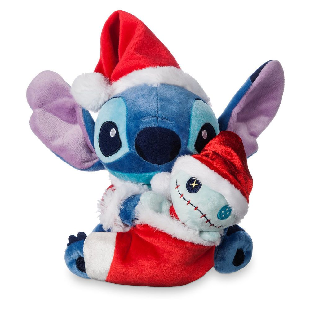 47b2f864141 Disney Store Park Lilo STITCH   SCRUMP Plush Dolls Santa Christmas Holiday  Plush