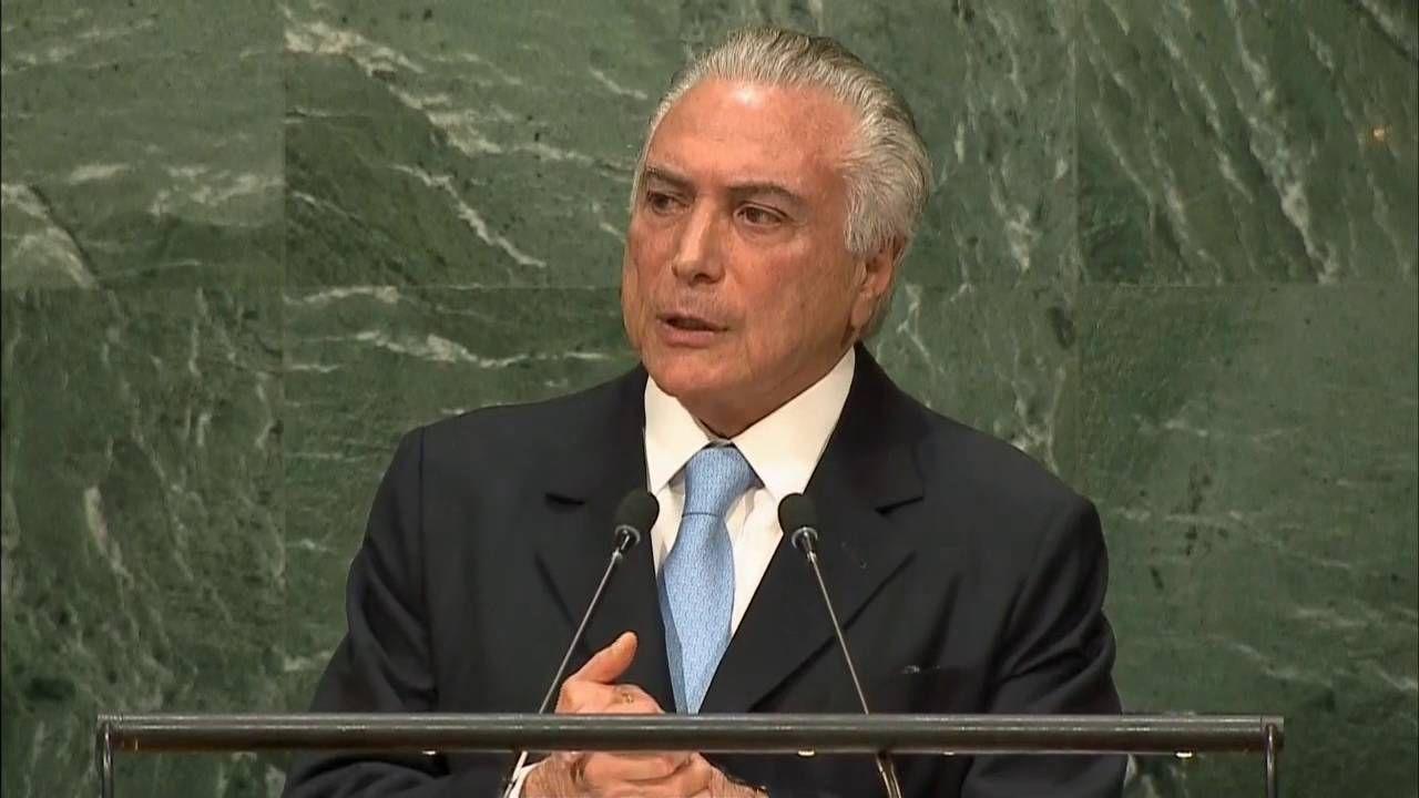 Em discurso na ONU, Temer afirma que Brasil começa a retomar a confiança