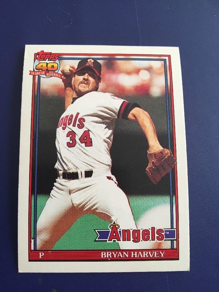 Topps 1991 Bryan Harvey Card 153 Mint Harvey, Cards