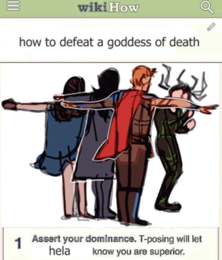 Black Crab Pose Meme: How To Defeat A Goddess Of Death Assert Your Dominance. T