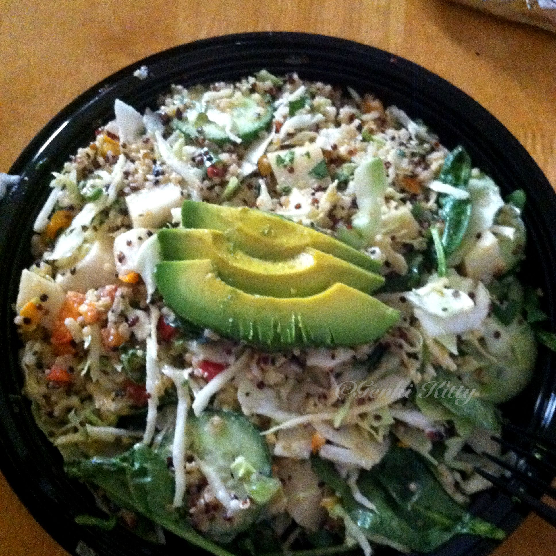 Quinoa Salad- a healthy vegan option at Sharky's Restaurant in Southern California.