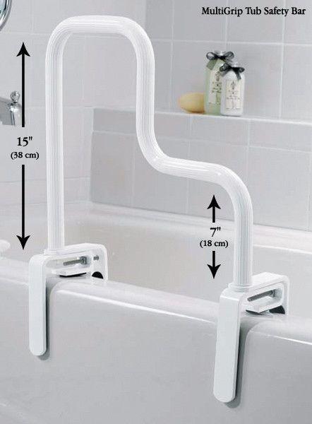 Multi Grip Tub Safety Bar Home Safety Tub Bathroom Safety