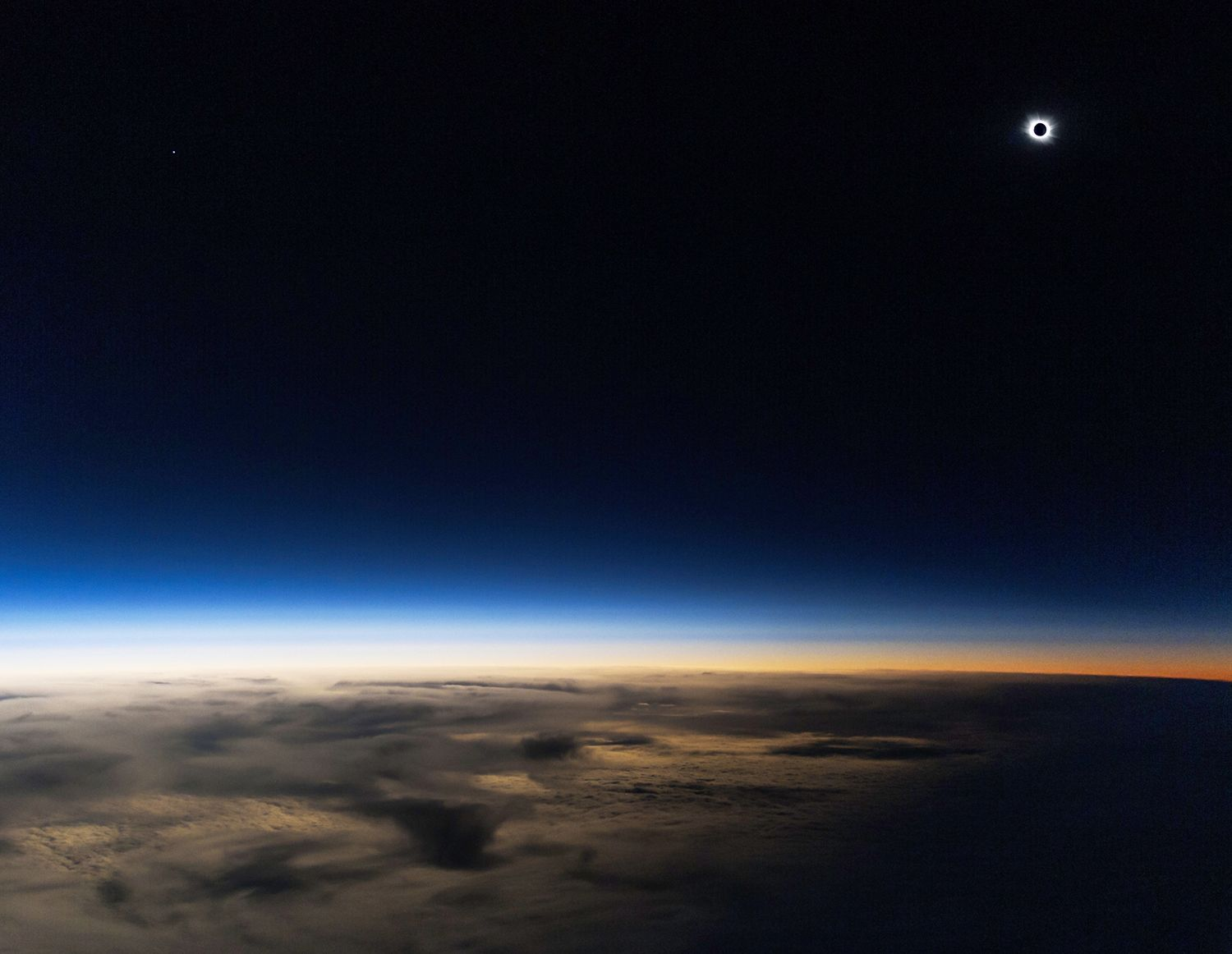 The solar eclipse on Friday, March 20, 2015, photographed ...