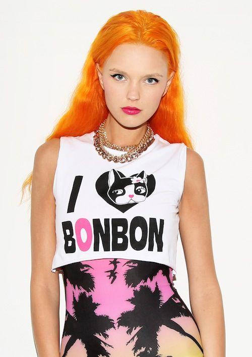Bonnie Strange with orange hair