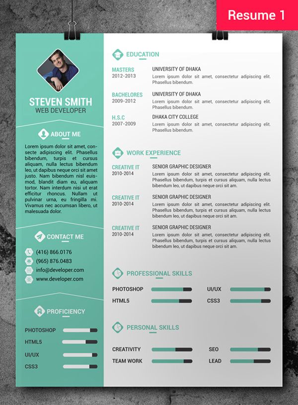 free professional resumecv template cover letter freebie psdmockup resumetemplates - Free Contemporary Resume Templates