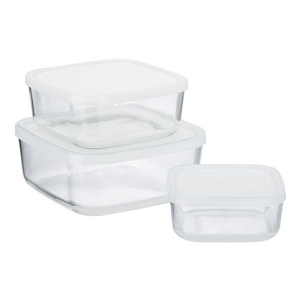 Frigoverre White Lid Glass Storage Glass Storage Containers Glass Storage Food Storage Containers