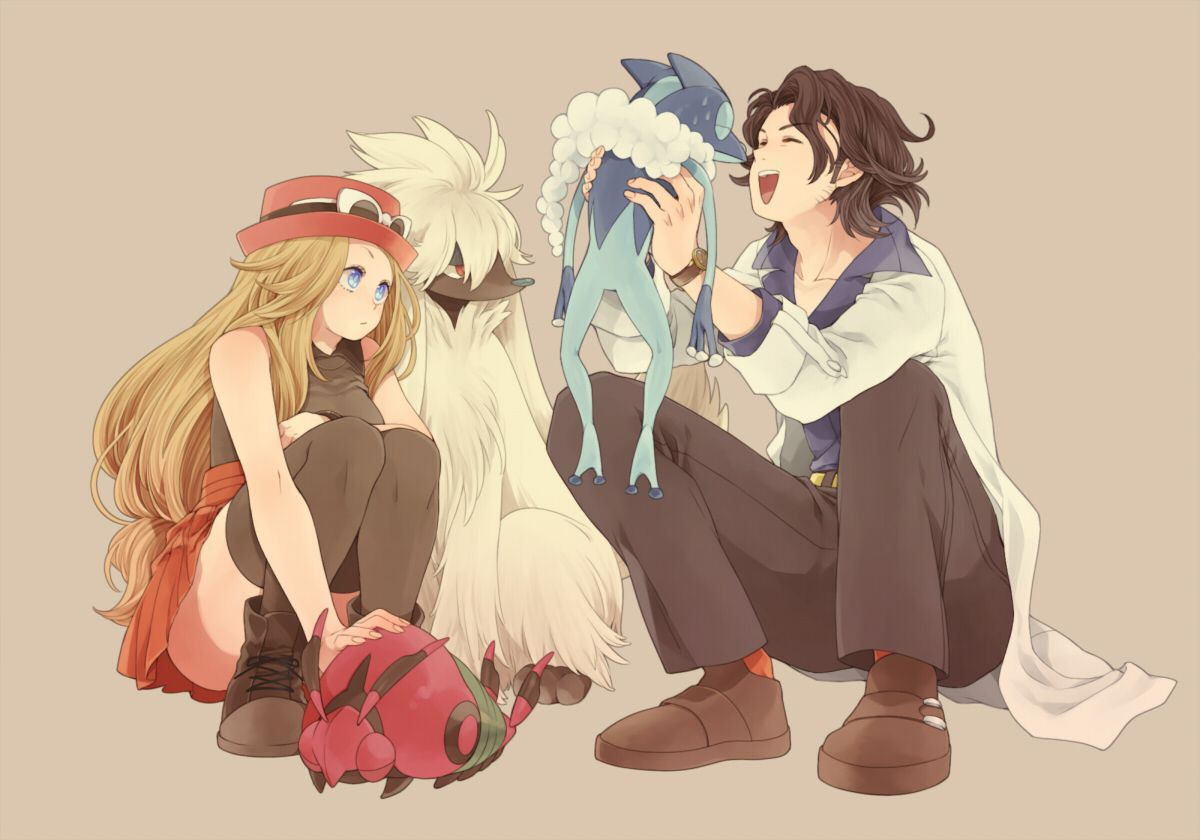 Serena, professor sycamore, frogdier, furfrou, and ...Serena And Professor Sycamore