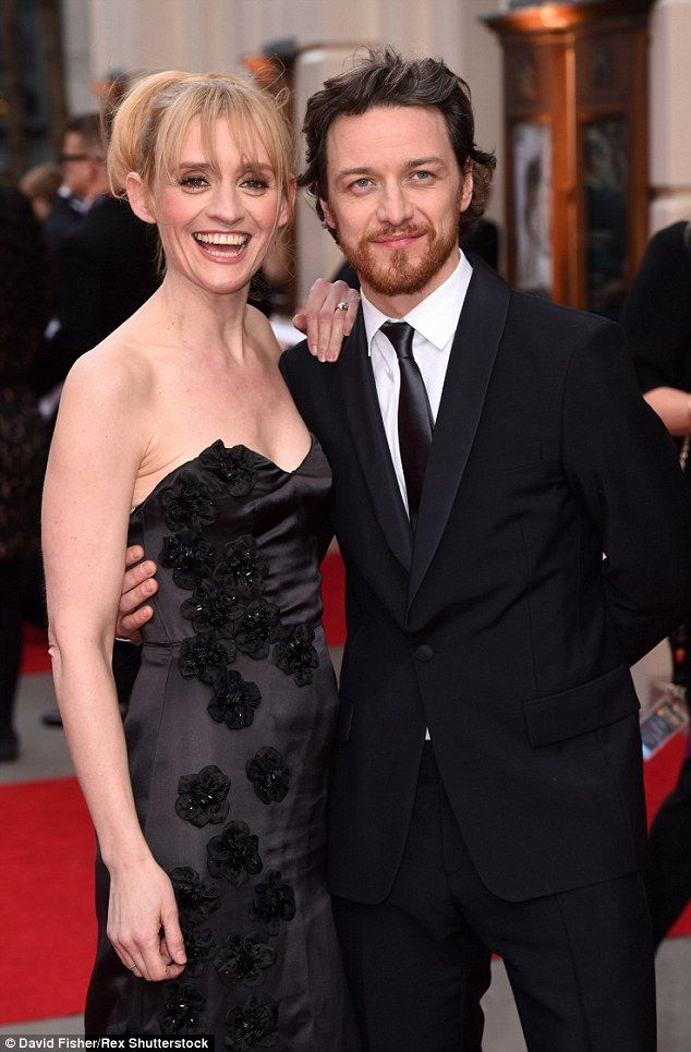 James McAvoy cosies up to wife Anne-Marie Duff at the ...