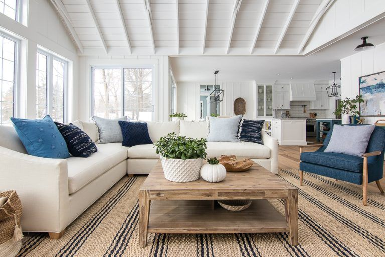 Surprising White Sectional Sofa And Navy Accent Chairs White Andrewgaddart Wooden Chair Designs For Living Room Andrewgaddartcom
