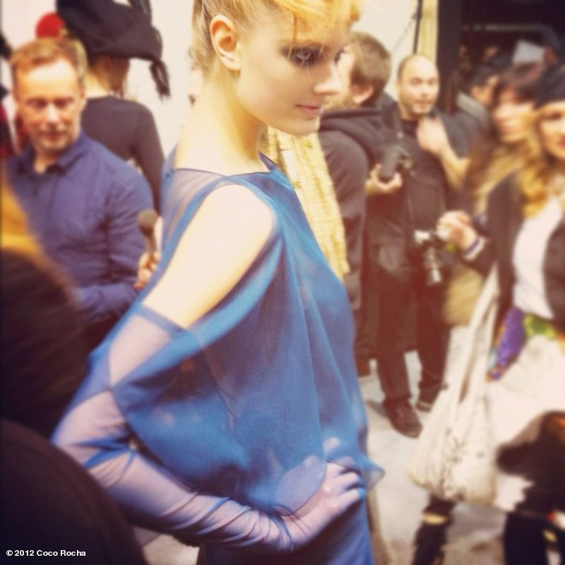backstage at Galliano