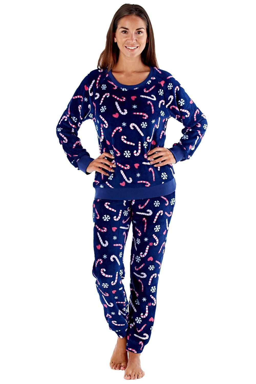 3dc20d428e11 Selena Secrets Womens Pyjamas Set Sheelah Girls Christmas XMas PJs Ladies  Santa