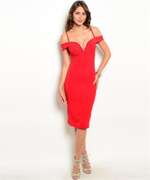 Ciara The Lady In Red Off Shoulder Body Con Dress | The Lady In Red ...