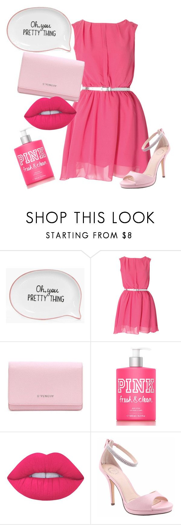 """Head to Toe: Pretty in Pink"" by kirstie-rodden on Polyvore featuring Boohoo, Givenchy, Lime Crime and I. MILLER"