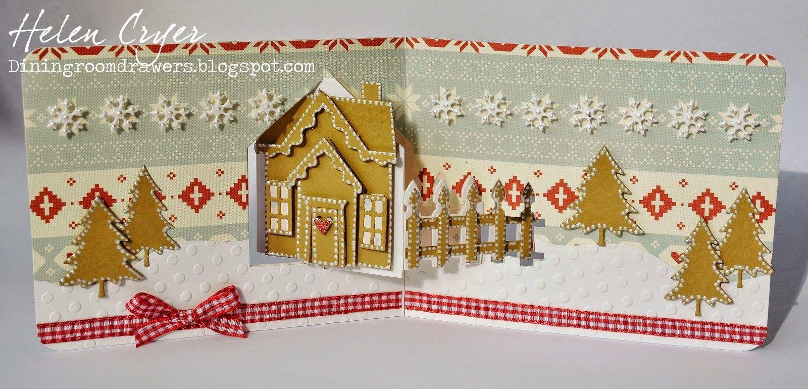 Скрап открытки новогодние домик