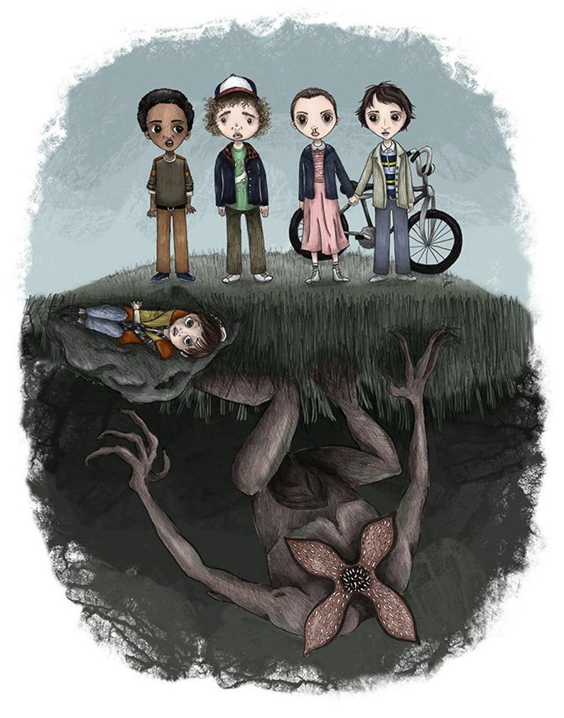 Stranger Things - 5 x 7 Illustration Print