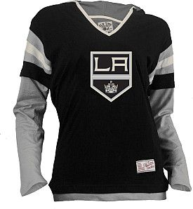 buy popular d91ff 289f6 Old Time Hockey Los Angeles Kings Womens Marte Fooler Hood T-Shirt - Shop. NHL.com  59